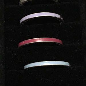 Pandora Purple CZ enamel ring size 9